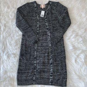 Black/white long cardigan